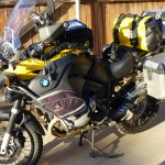 Motorcycle ready for a long tour